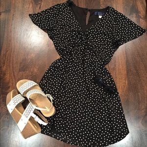 Francesca's Collections Dresses - Black and White Pooka Dot dress